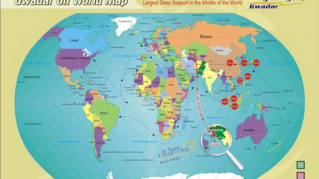GWADAR ON WORLD MAP